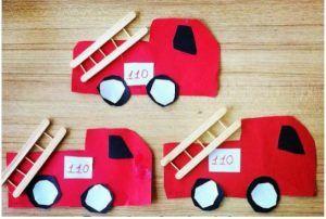 fire truck craft for kindergaten
