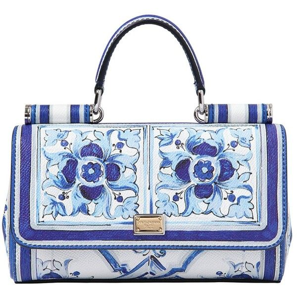 DOLCE & GABBANA Jeans Printed Dauphine Shoulder Bag (€1.370) found on Polyvore featuring bags, handbags, shoulder bags, purses, bolsas, borse, dolce gabbana handbag, man bag, hand bags and print handbags