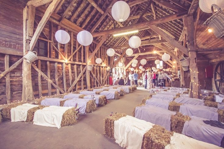 Mariage Champ Tre C R Monie La Que Avec Balles De Pailles D Coration C R Monie La Que