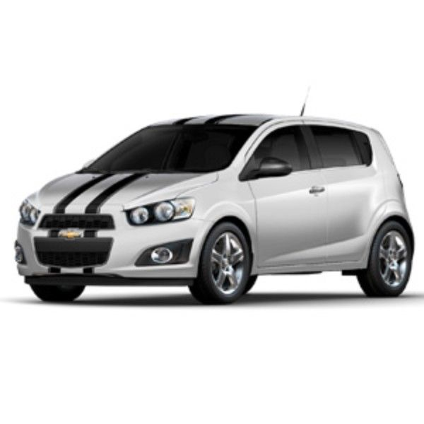 2016 Sonic Custom Graphics Dual Stripes Hatchback Gloss Black Chevy Sonic Hatchback Sonic