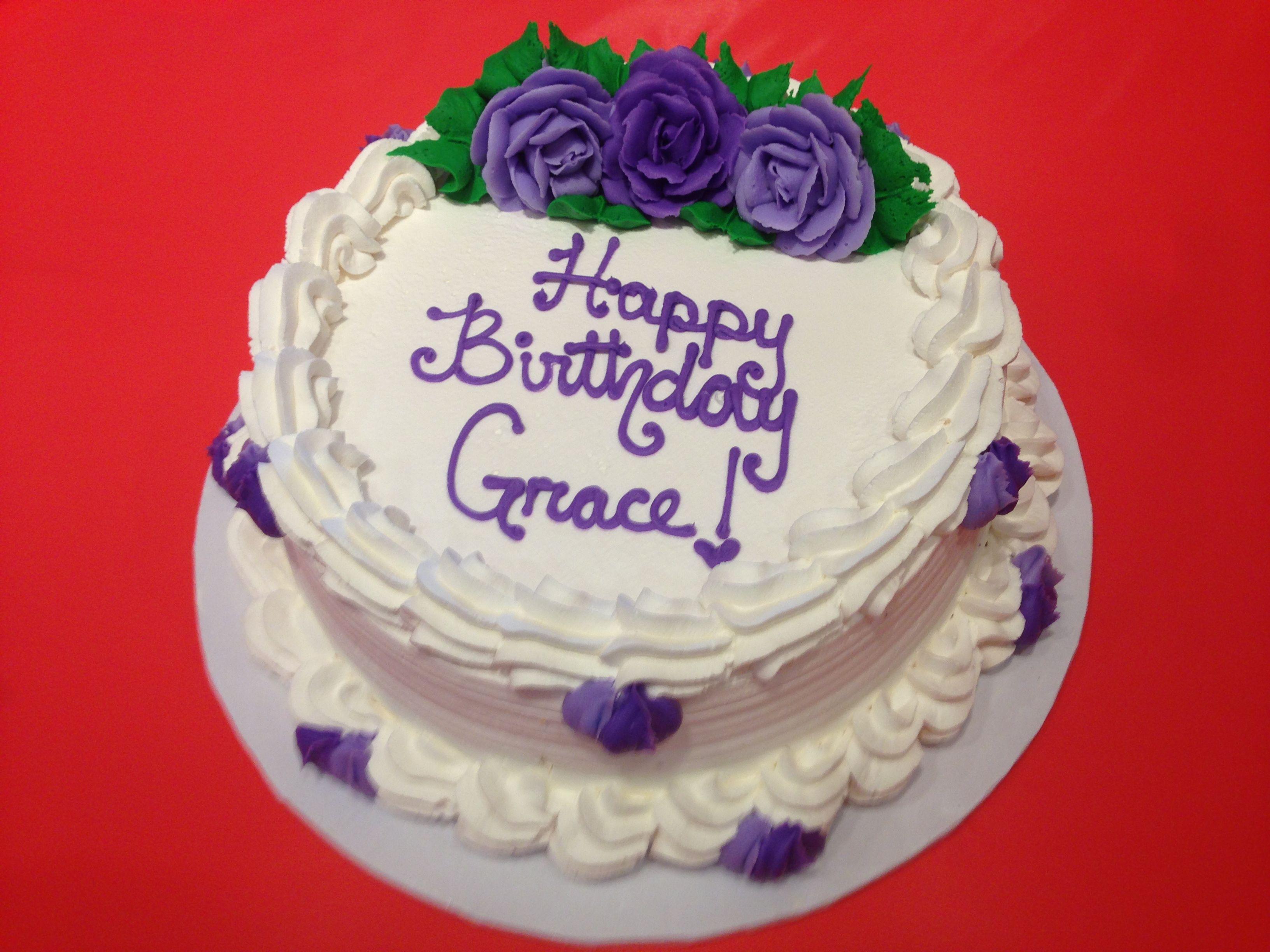 Cake Purple Written Icing