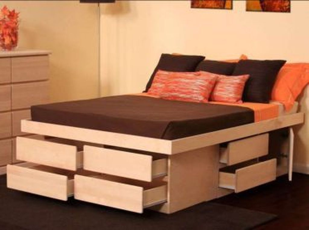 30 Simple Space Saving Furniture Ideas For Home Platform Bed