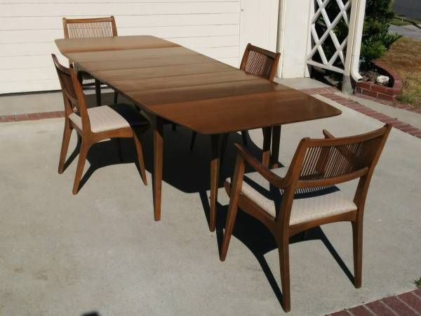 John Van Koert Drexel Walnut And Pecan Dining Table With 3 Simple Drexel Dining Room Furniture Design Ideas
