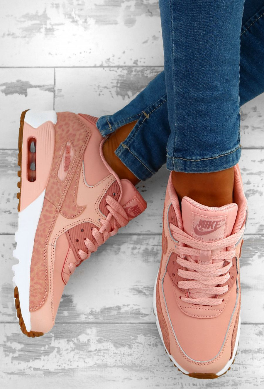 ab065062937a01 Nike Air Max 90 Pink Leopard Trainers - UK 3