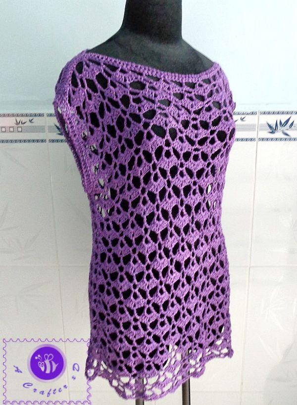 crochet lacy oversized top, crochet oversized top, crochet lacy top ...