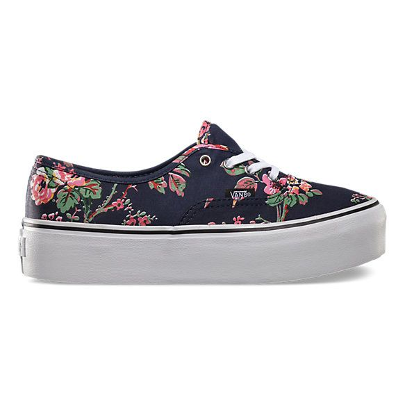 Floral Platform Vans Mujer Pinterest Authentic Platforms Moda avHxUAqw 3fea303852f
