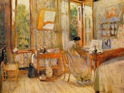 Interior of a Bedroom ~ Édouard Vuillard ~ (French: 1868-1940)