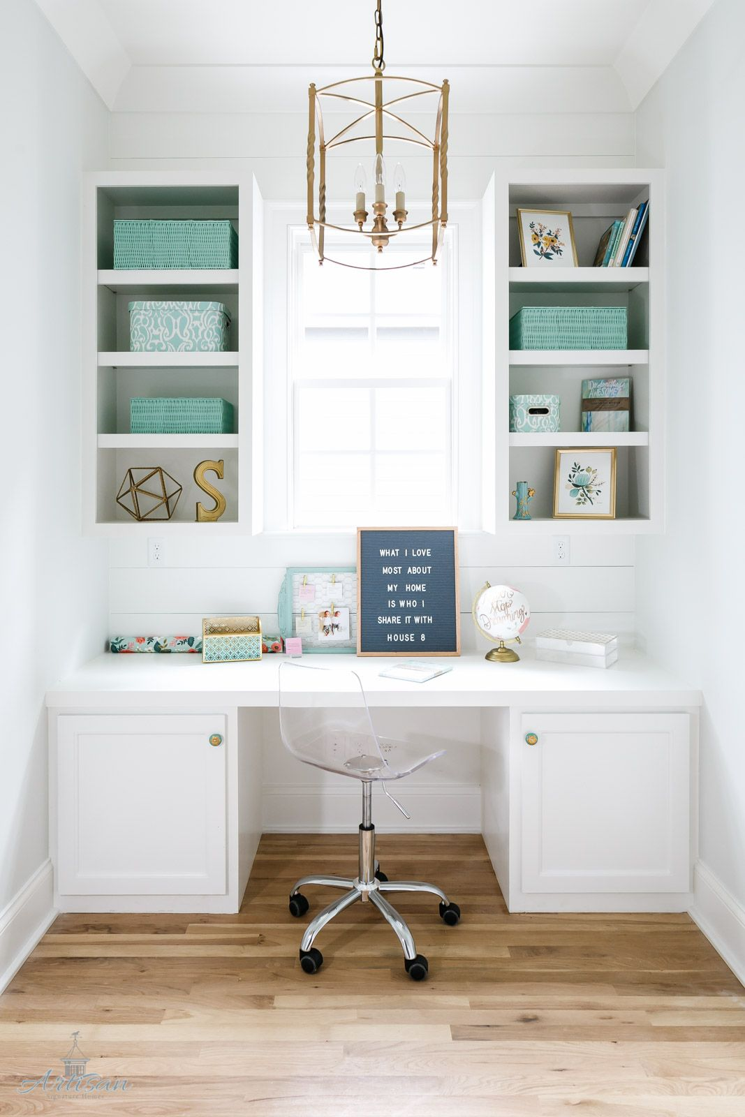 The perfect office nook with built in bookcases | Artisan Signature ...