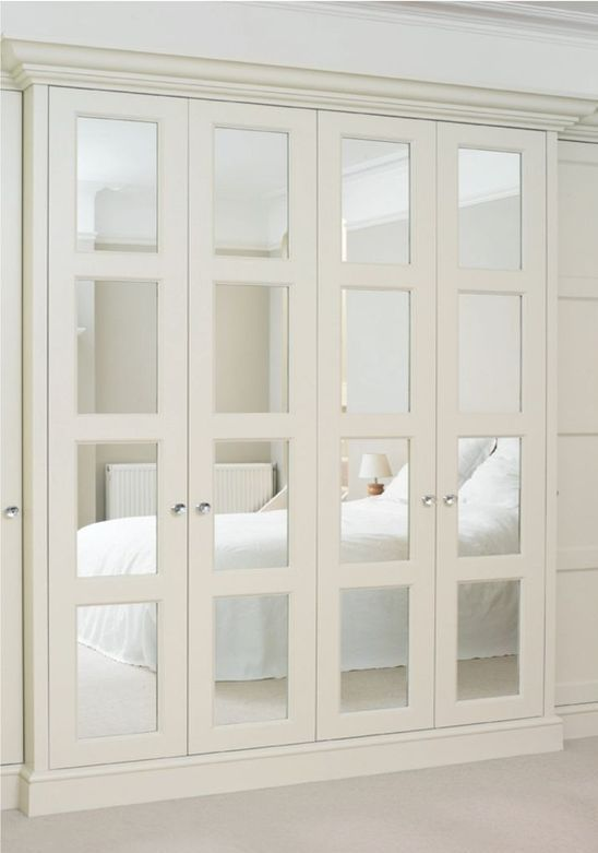 Accordion Style Mirror Closet Doors For An Elegant Touch Bedroom