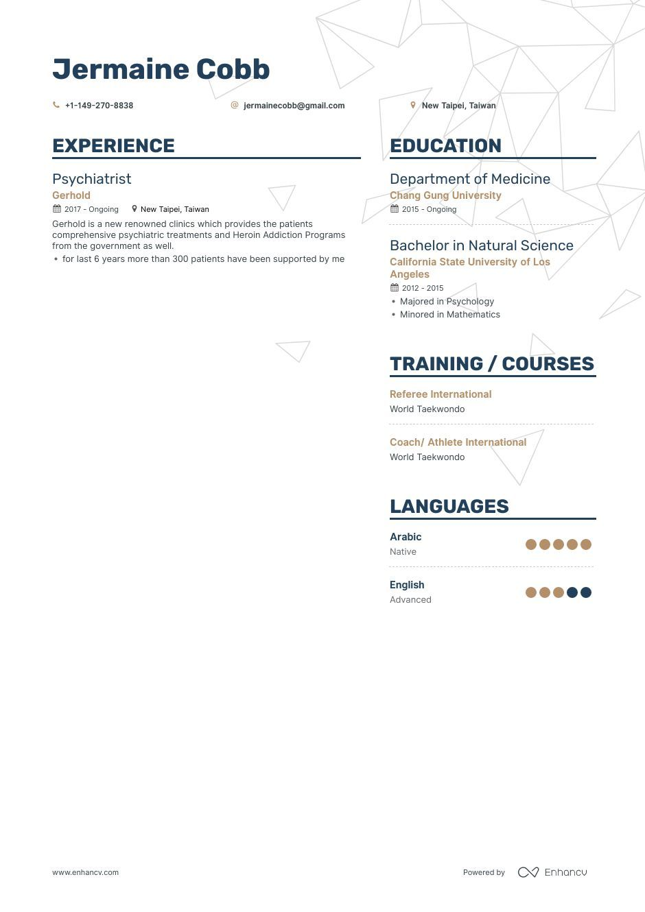 Psychiatrist Resume Example and guide for 2019 Resume