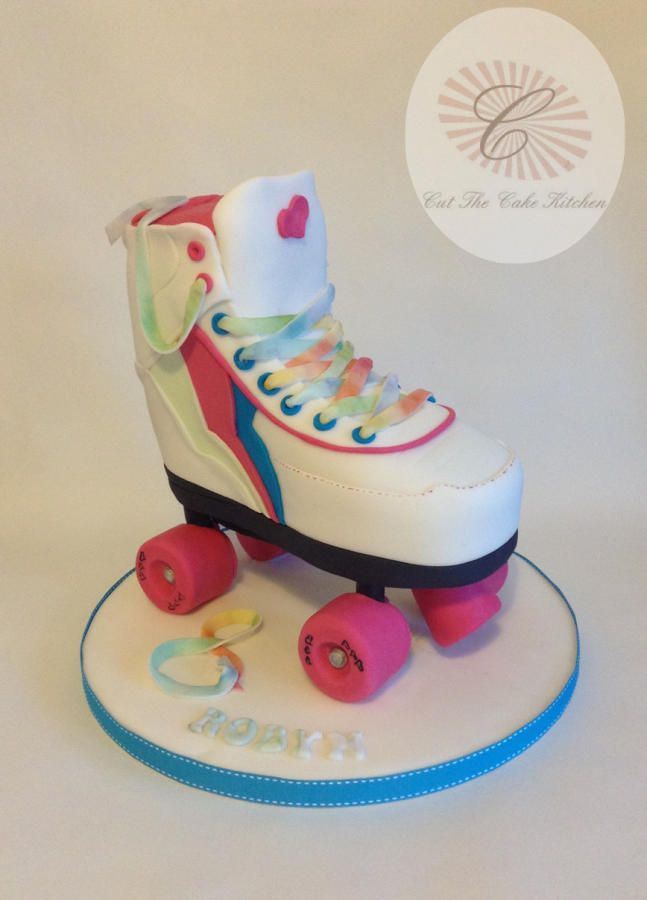 Inspirational D Roller Skate Cake by Emma Lake Cut The Cake Kitchen
