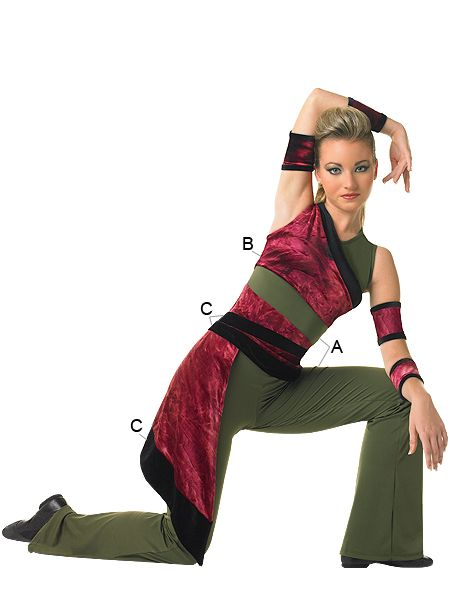 Algy Noble Jumpsuit With Side Drape Colorguard Outfits Cheerleading Uniforms Lyrical Costumes