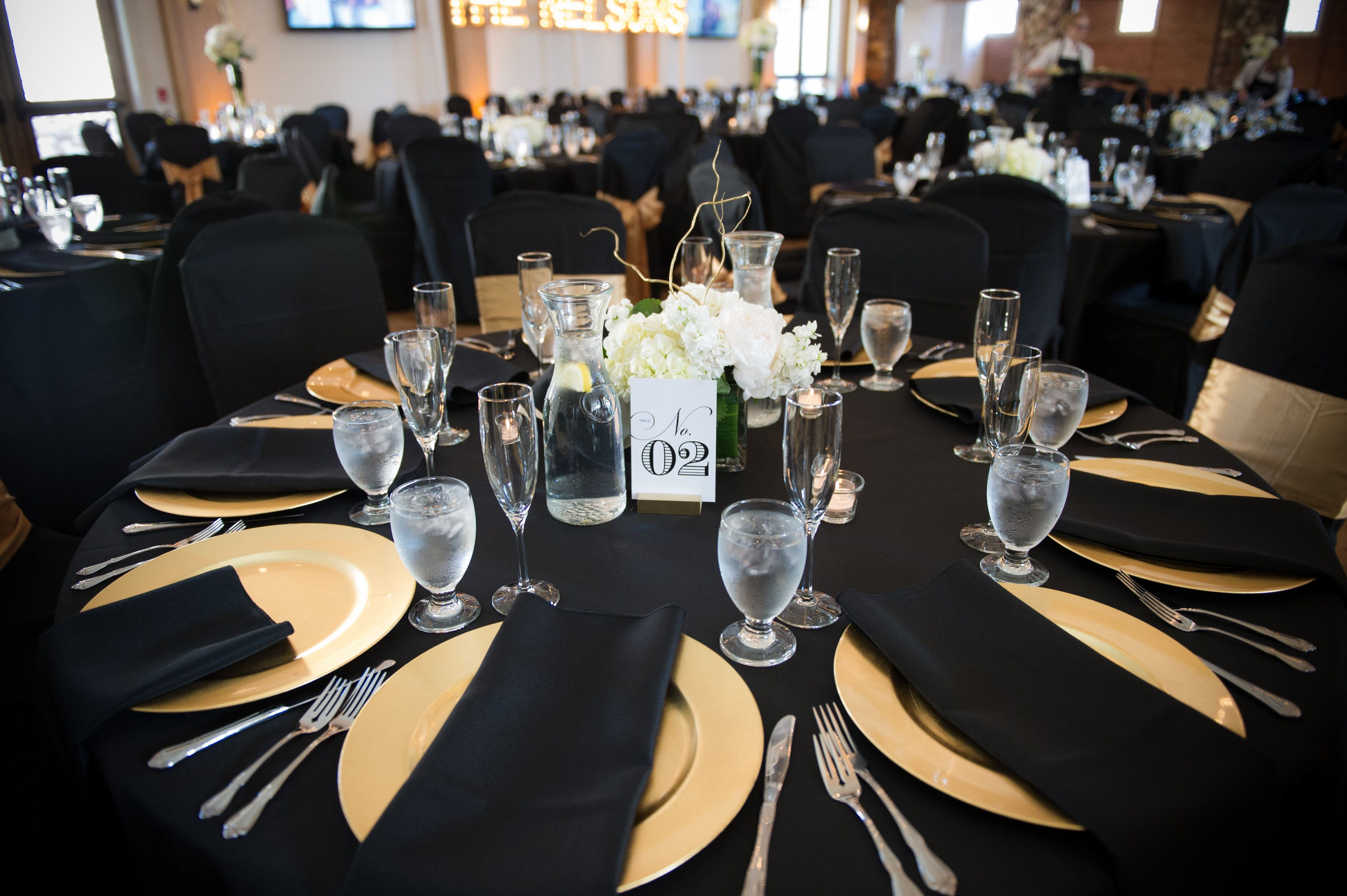 Wedding decorations yellow and gray  Black and Gold wedding Photo via carly k k Pippin