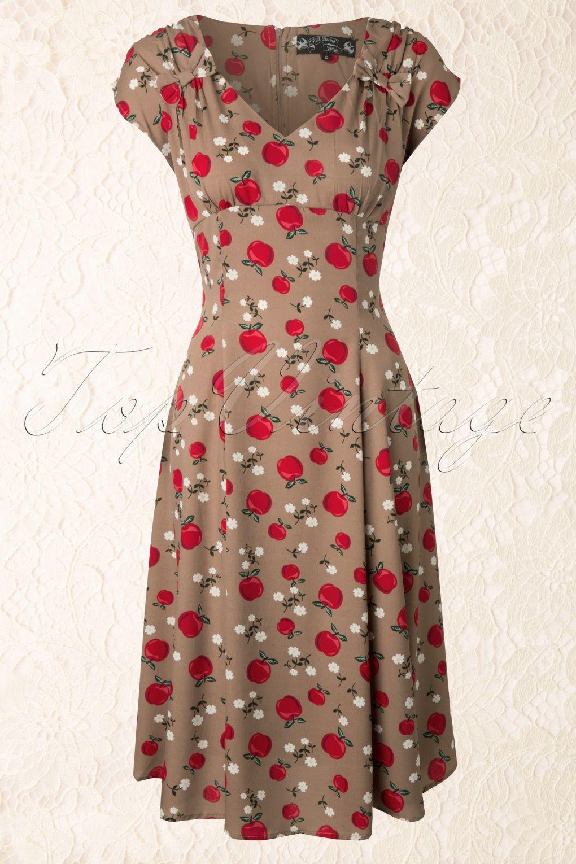 50s sheila dress caramel | kleidung brautmutter, vintage