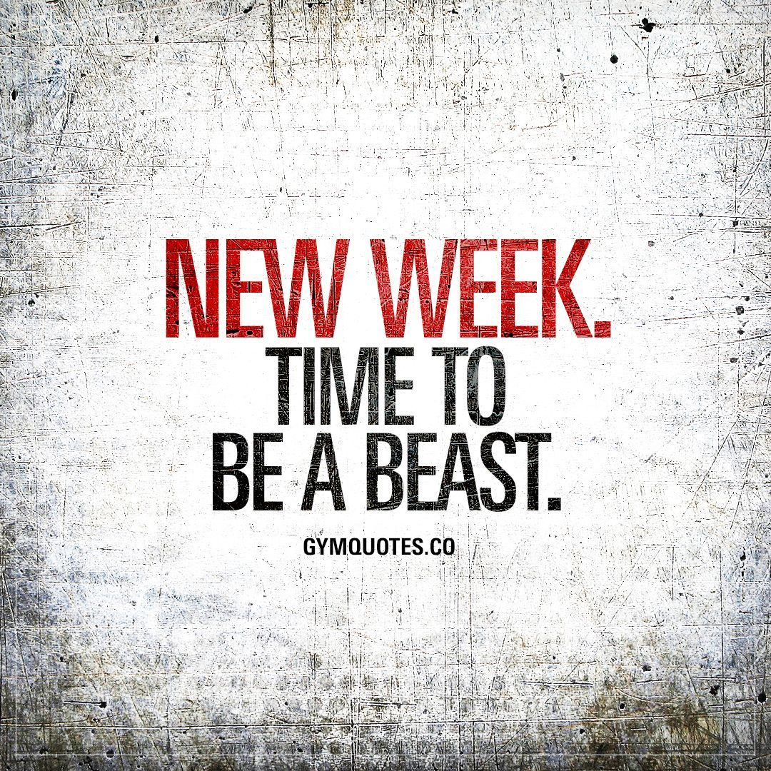 New week. Time to be a beast - Fitness Motivation - #beast #Fitness #Motivation #Time #Week