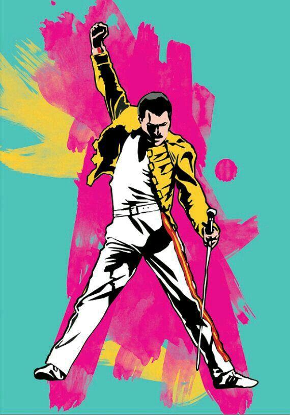 Freddie Mercury フレディマーキュリー In 2019 イラスト アート