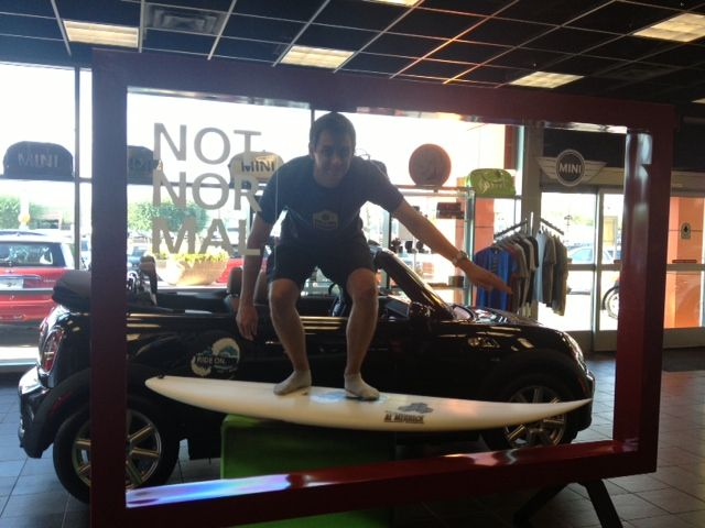 Mini North Scottsdale >> Surfsup Sales Manager James Kelly Catching Some Waves At Mini North