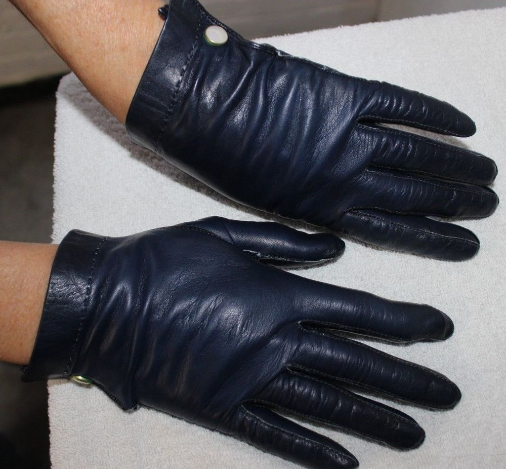 Claires black gloves - Vintage Mid Century Claire Mccardell Soft Kid Leather Gloves Size 6 1 2 Clairemccardell