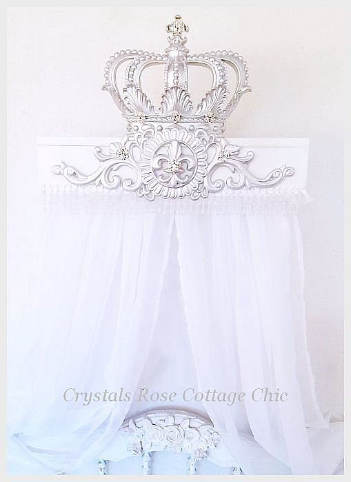 Silver Lux Bed Crown Teester Canopy & Silver Lux Bed Crown Teester Canopy | Crowns | Pinterest | Bed ...