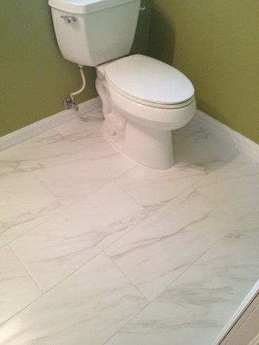 12x24 American Olean Bianco Carrera Mirasol On Main Bathroom Floor In South Tampa Florida Master Bath Tile Olean Bathroom Flooring