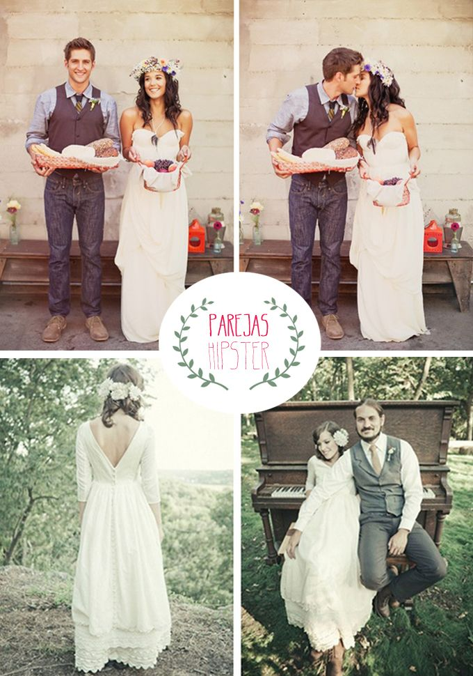 bodas hipster | boda | wedding, wedding dresses y wedding looks