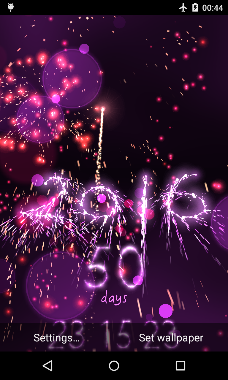 New Year Countdown 2016 live wallpaper (con imágenes)