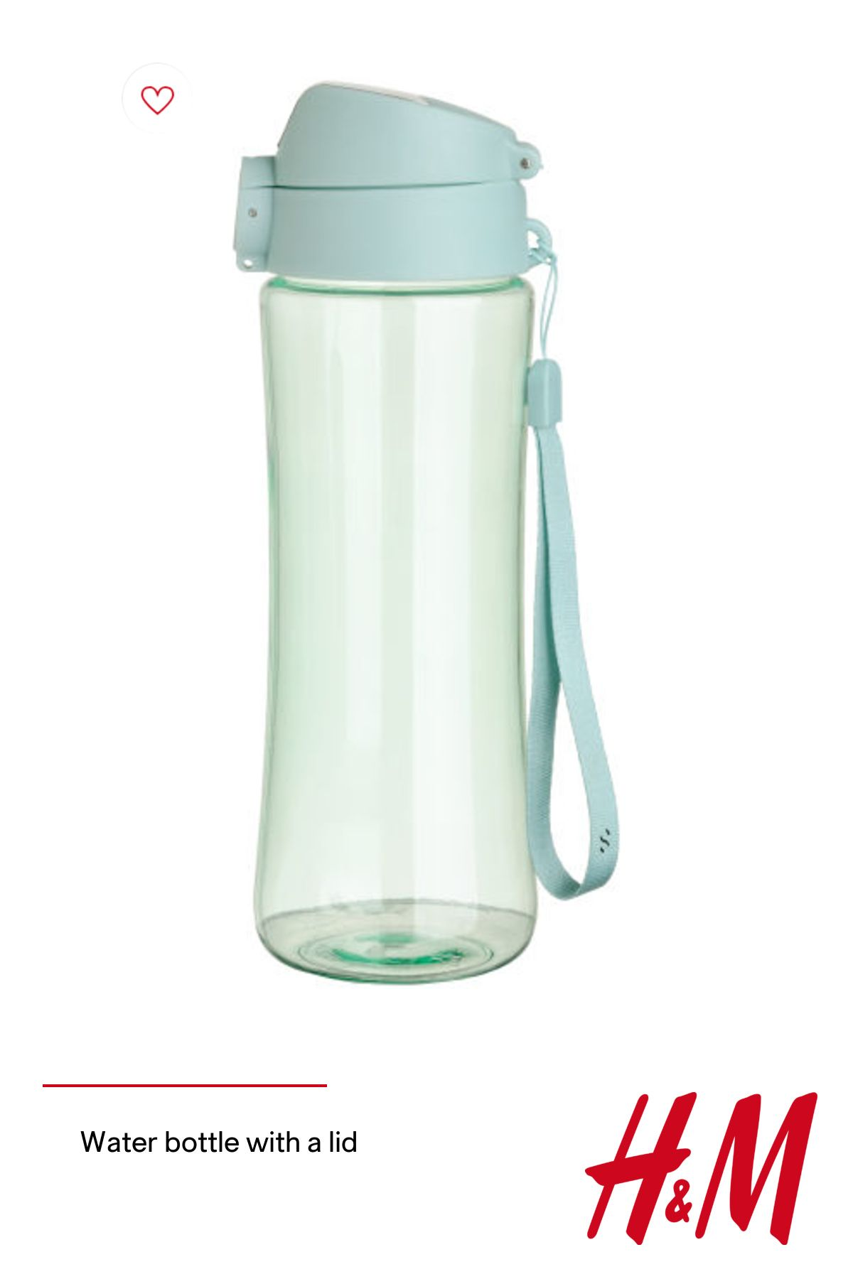 Water bottle with a lid