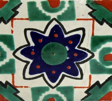 Talavera Tile :- Beautiful, hand painted ceramic tiles. Perfect for accents or an entire project. Since these tiles are all individually painted by hand, colors, designs and styles will vary slightly from tile to tile. Minimum order of 10 pieces required. Order by the box. (90pcs per box.) Dimensions: 4″ l x 4″ h x .25″ w