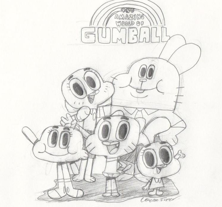The amazing world of Gumball coloring pages for kids ...