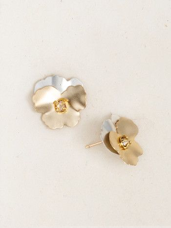 Pansy Post Earrings