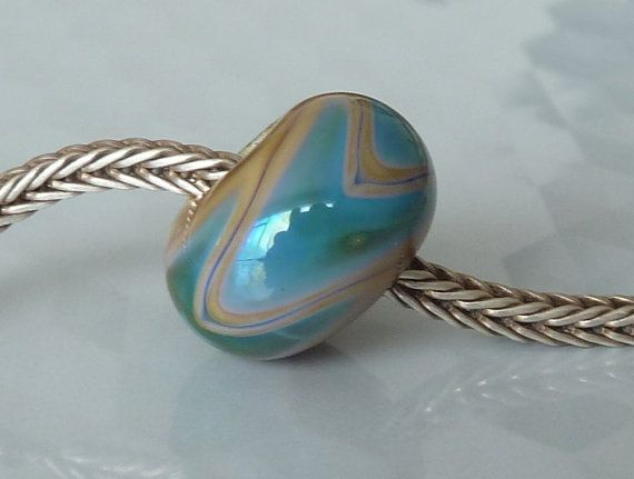 Silver Core Option Handmade Lampwork Glass by doriwallace on Etsy