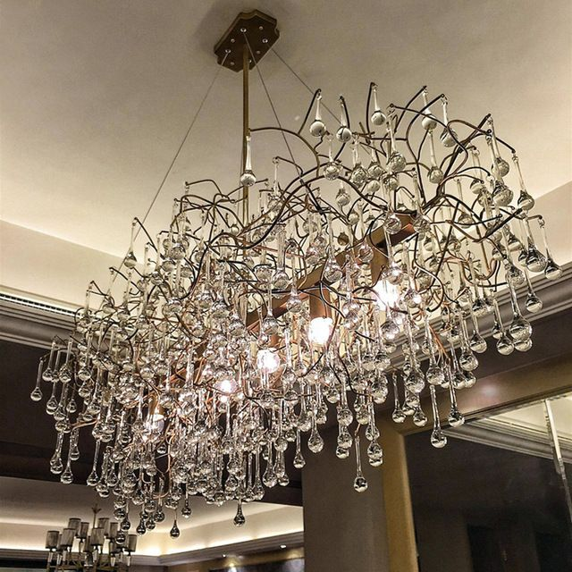 Rectangular Chandelier Dining Room Rectangle For Kitchen Led Chandeliers Individualization