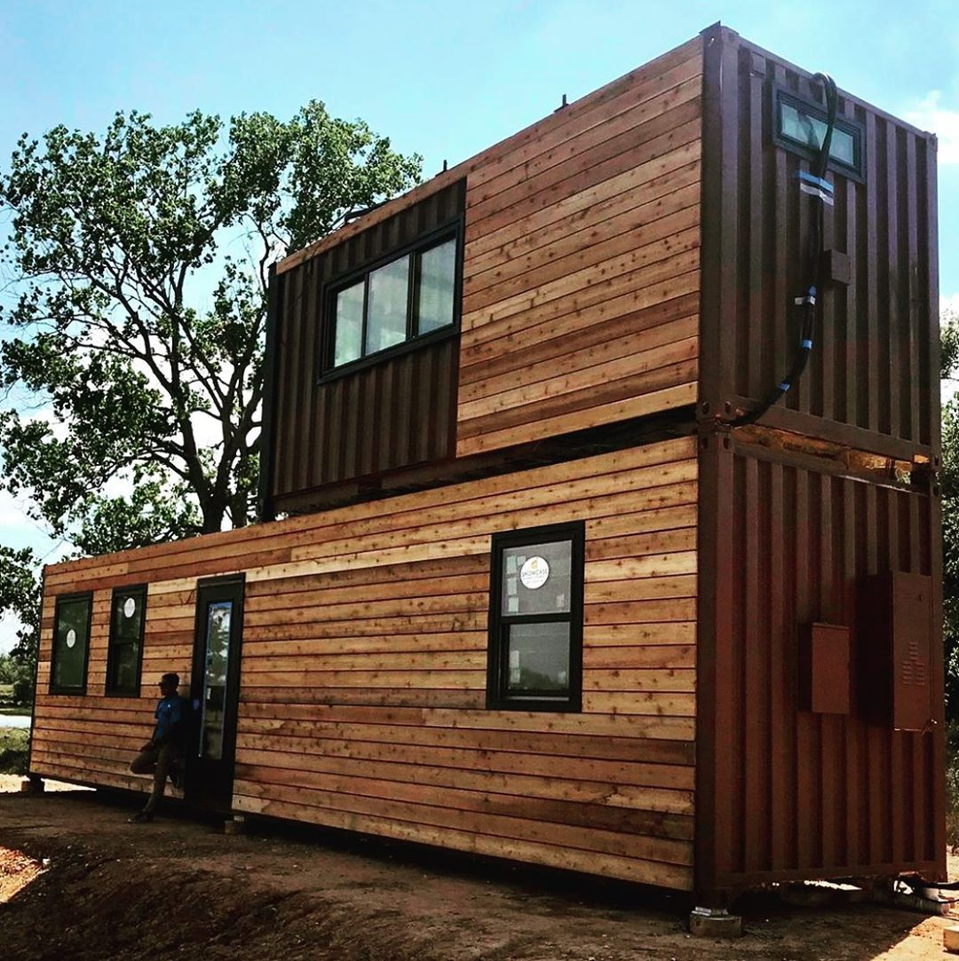 Hared By Our Friends At Cargo Home A New Double Stack Shipping Container Home Pop Up In China Springs Cargo Home Container House Container House Design