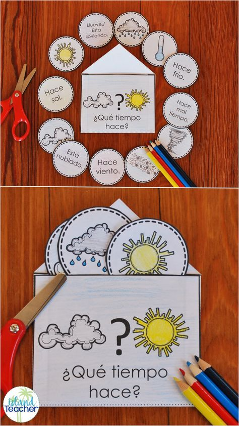 Spanish Interactive Notebook Weather Activity and Game | Y8/Y9 ...