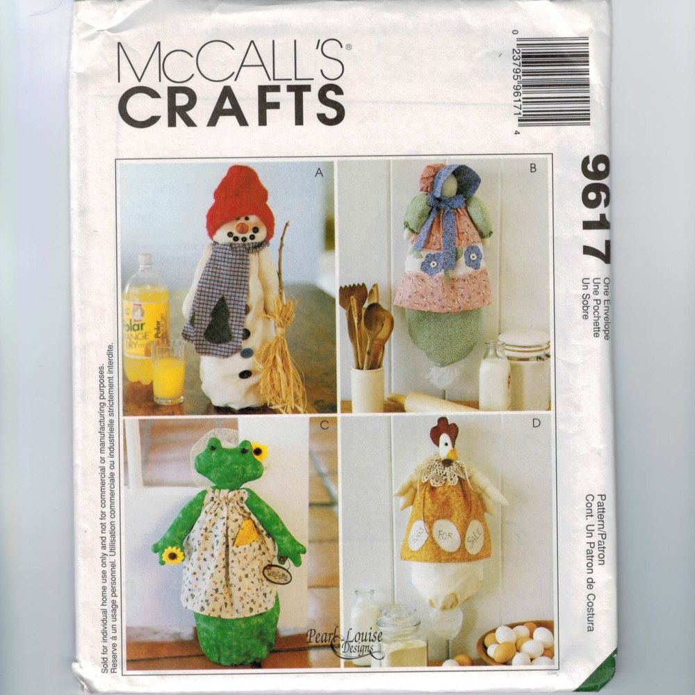 Plastic bag keeper - Chicken Sewing Pattern Craft Sewing Pattern Mccalls 9617 Kitchen Clutter Keepers Plastic Bag