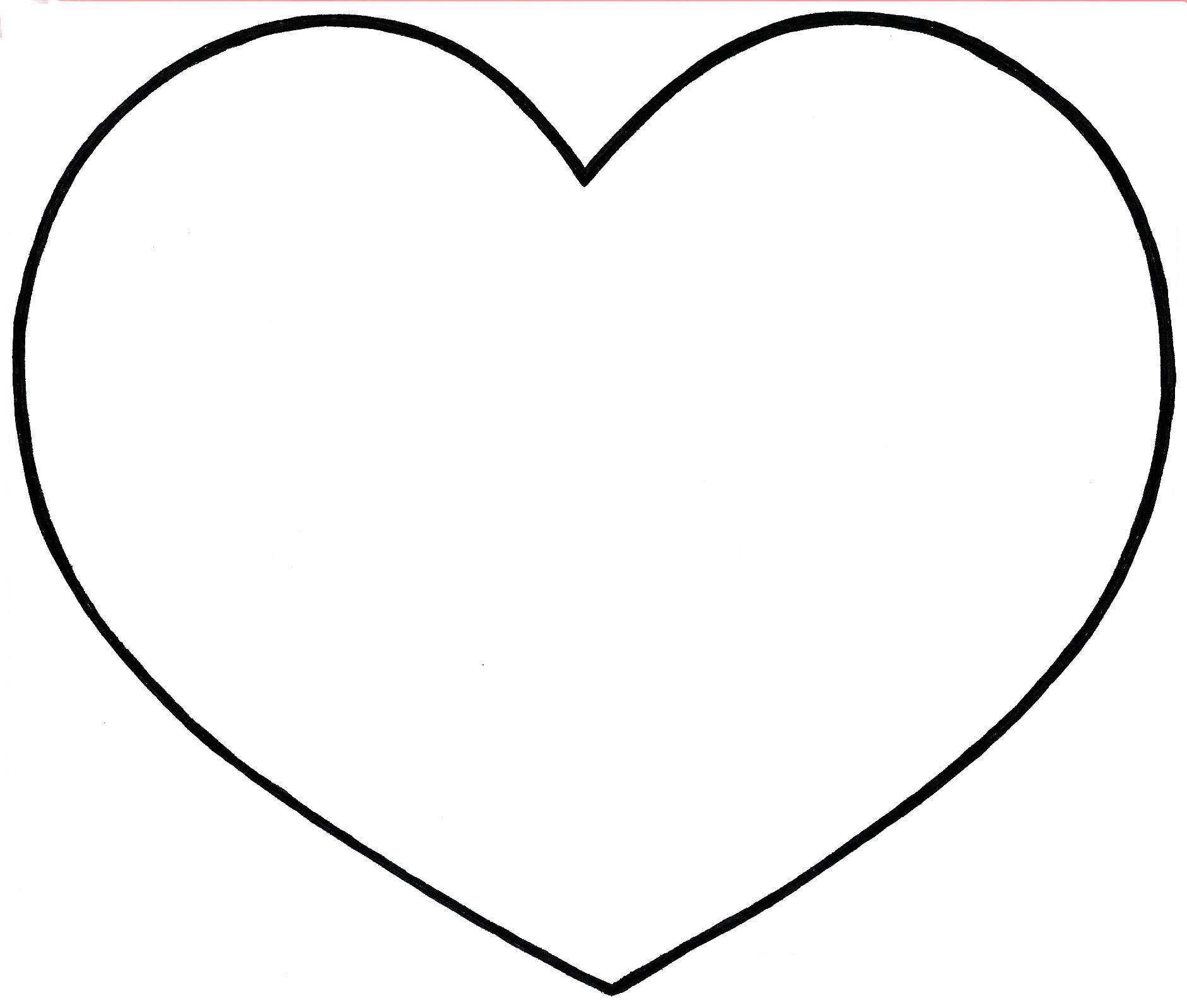 Dessin en couleurs  imprimer Chiffres et formes Coeur numéro