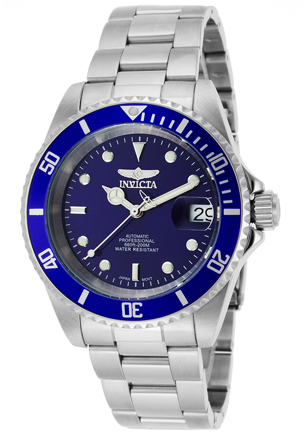 Invicta Pro Diver Automatic 3 Hand Blue Dial Watch