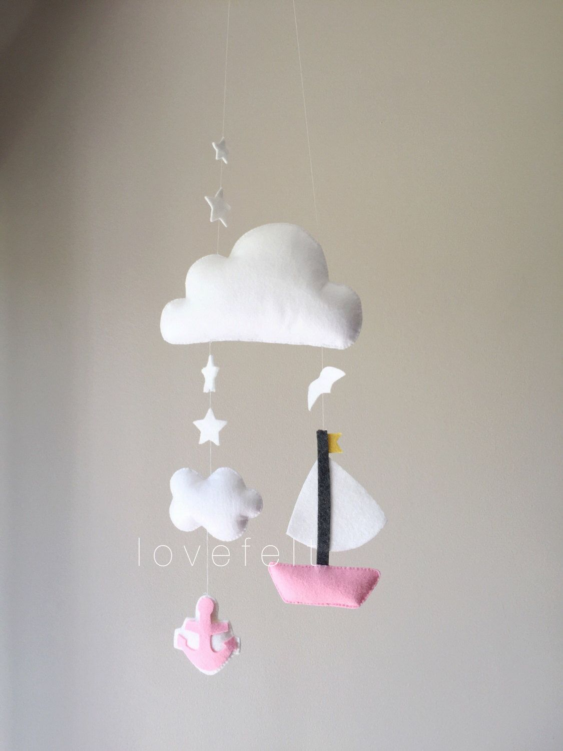 Baby mobile clouds mobile baby mobile sailboat