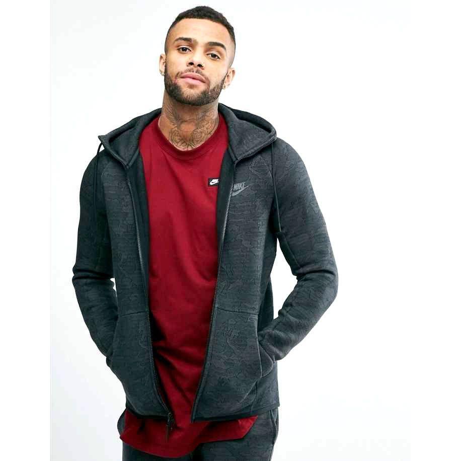 Nike tech fleece jacquard hoodie mens full zip jacket 2xl