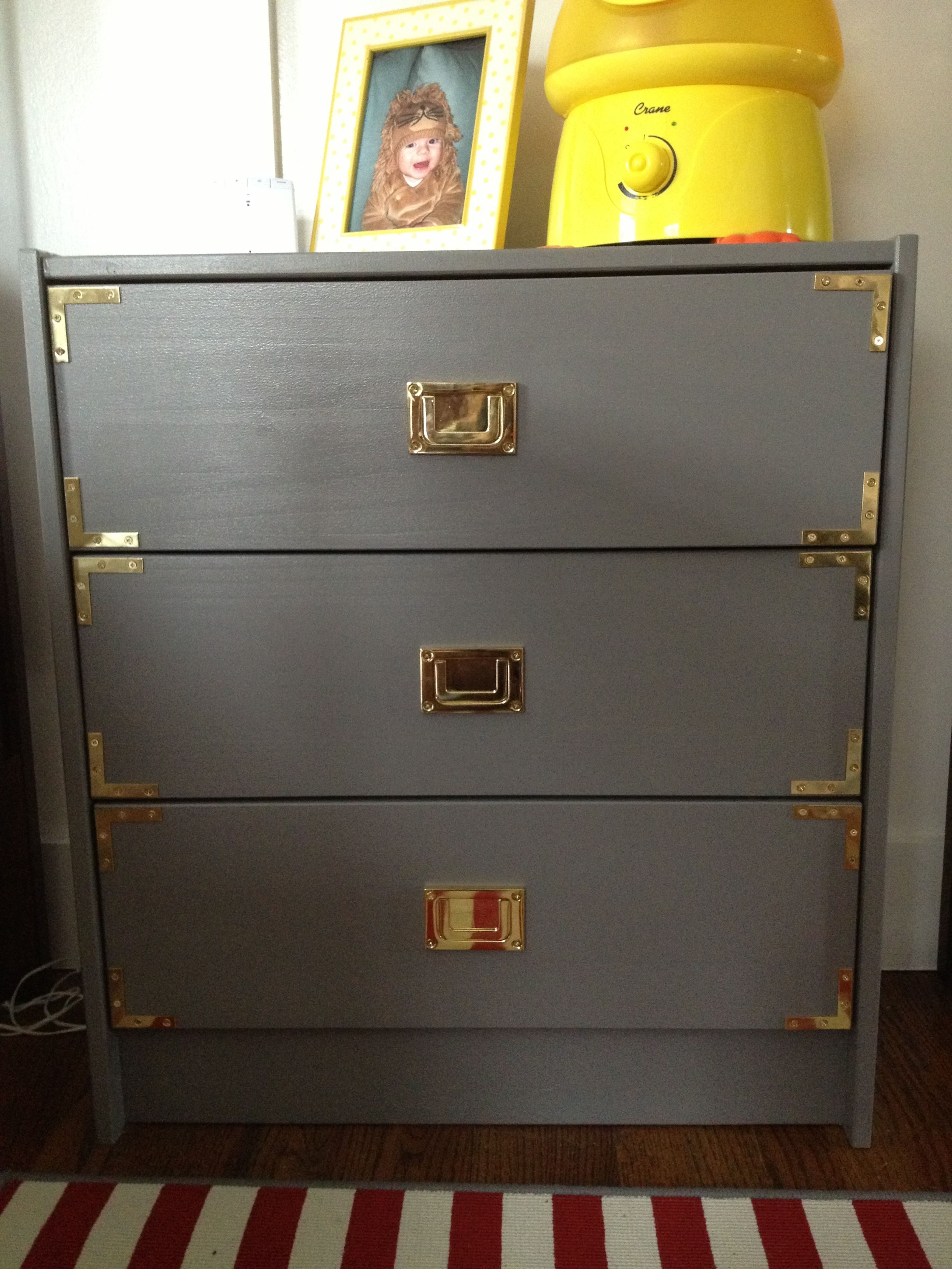 Ikea Hack Campaign Dresser. I Love The Color, I Might Paint My Dresser Like  This And Add Gold Hardware