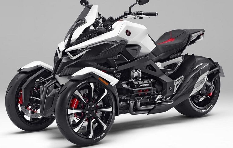 Car Reviews New Car Pictures Honda Neowing Three Wheeler Hybrid Concept Revealed Trike Motorcycle Motor Scooters New Car Picture