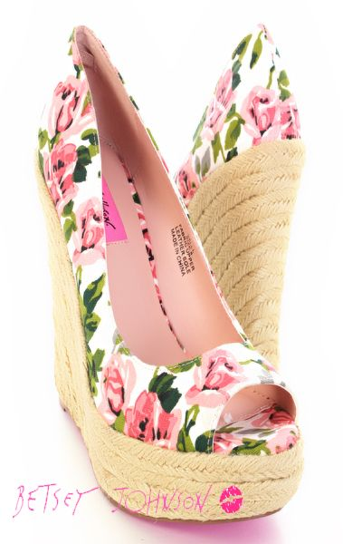 Betsey Johnson Floral Wedges Love These Shoes Wedge Shoes Fabulous Shoes