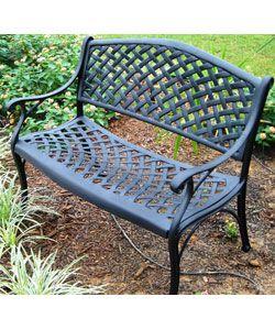 Exceptionnel Nassau Cast Aluminum Garden Bench. Overstock.com. $130.