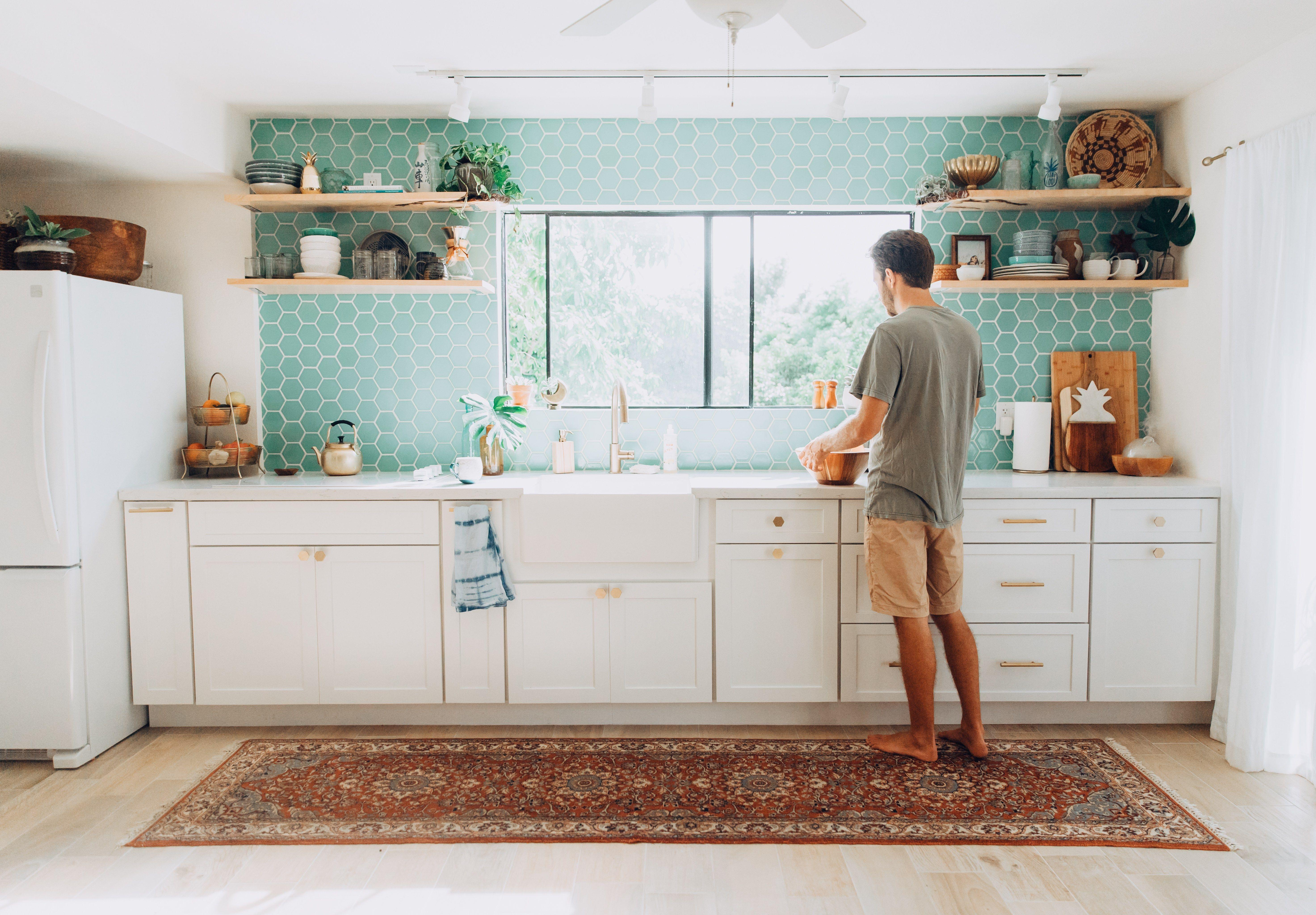 Our Tropical Bohemian Kitchen Renovation Reveal Elanaloo Com Kitchen Renovation Eclectic Kitchen Kitchen Remodel