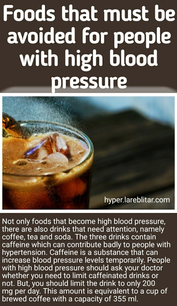 Not only foods that high blood pressure, there are