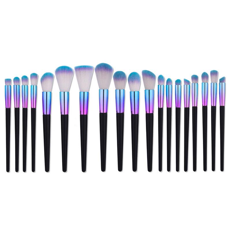 Premiuim Professional Makeup Brush Set Dazzle Blue Purple
