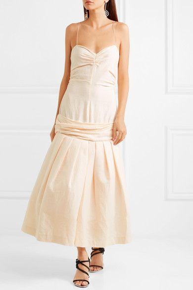 d13bd0ed698 Jacquemus - Mamao Linen And Cotton-blend Midi Dress - Beige ...