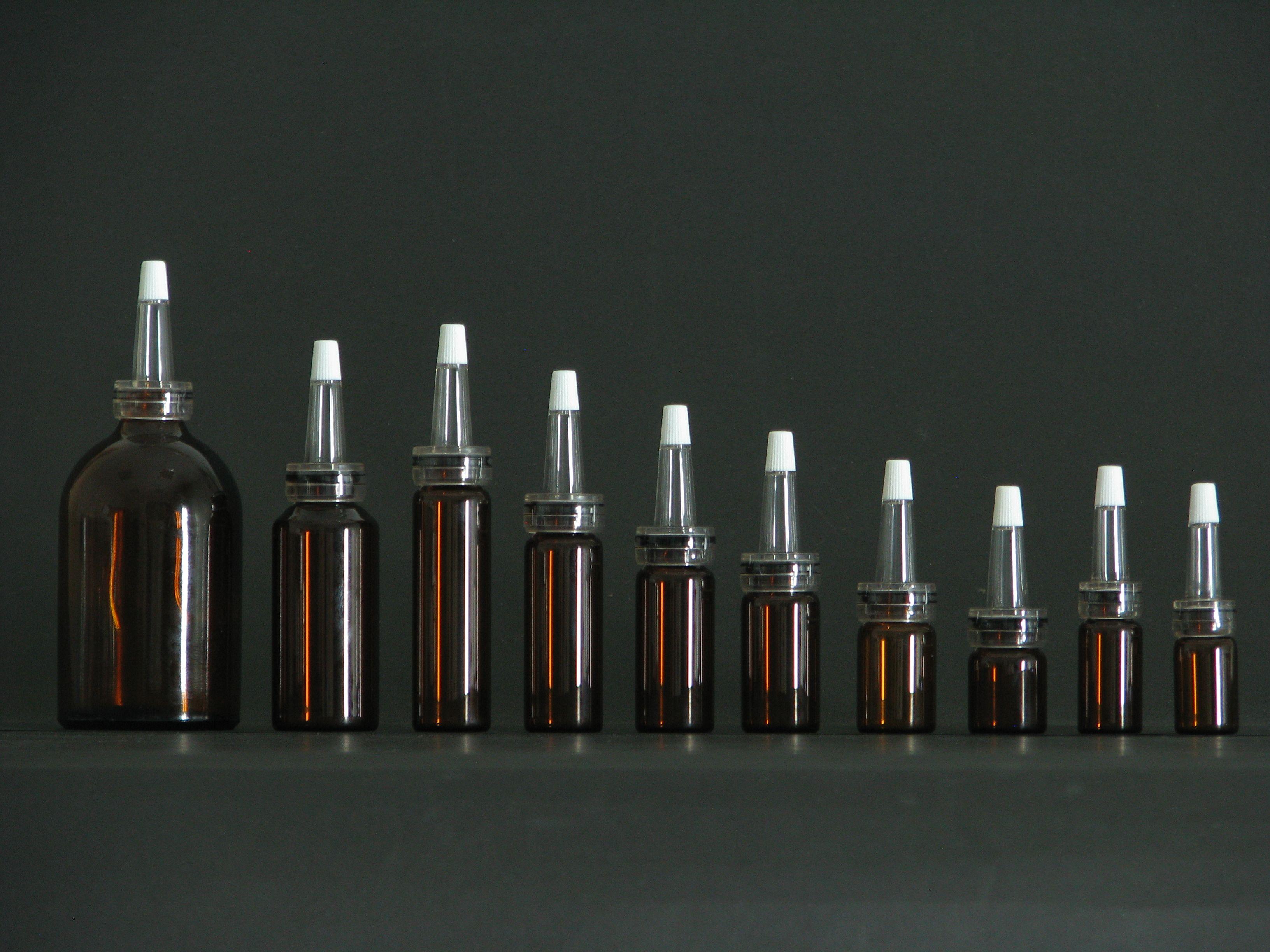 3ml100ml brown color amber bottle pharmaceutical amber