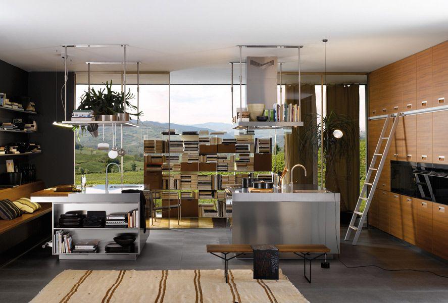 L\u0027îlot central  la star de la cuisine Design de loft Pinterest