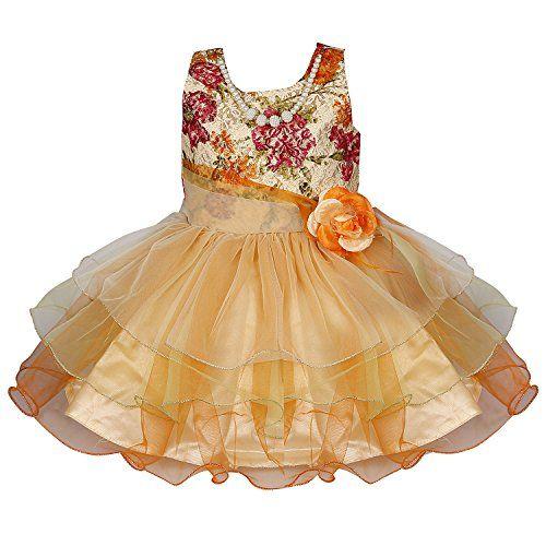 81e8e1a42bd7f Wish Karo Party Wear Baby Girls Frock Dress DNbxa09 -2-3 Yrs Kids Girls